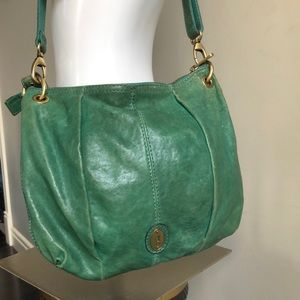 FOSSIL long live Vintage green Leather purse
